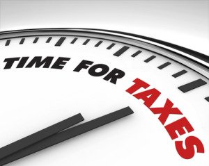 Time for Taxes - Clock