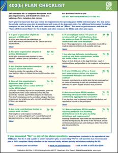 403(b) plan checklist
