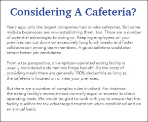 Considering a cafeteria?