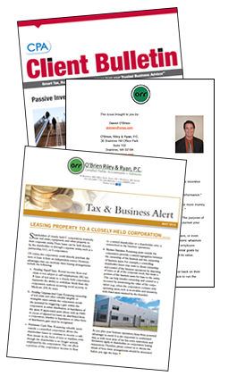 O'Brien, Riley, and Ryan Newsletters